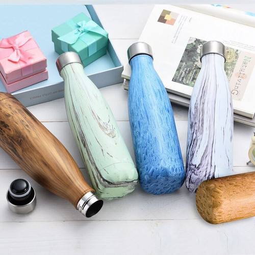 9 Color  Vacuum Flask for water bicycle Stainless Steel Kettle Vacuum Marble Texture Flask Water Bottle for outdoor