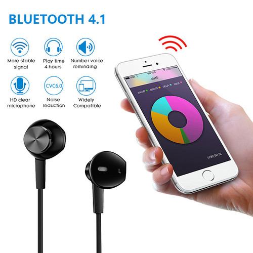 Vchicsoar i8 Bluetooth Earphone with Mic Headphones Sport Wireless Earphones Stereo Magnetic Headset Earbuds for Xiaomi Samsung