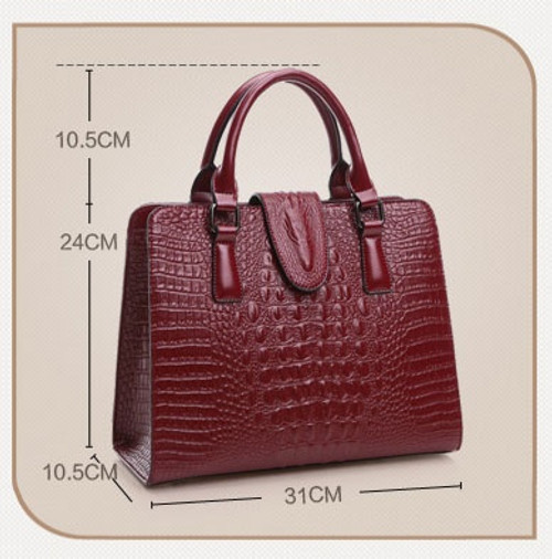 Genuine leather bag ladies 2016 crocodile pattern Women messenger bags handbags women famous designer high quality fashion