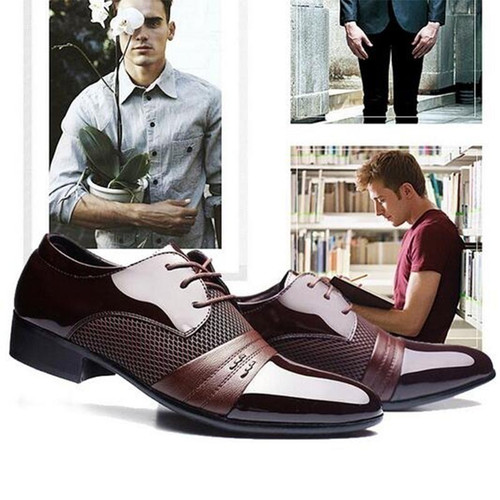 FASHIONMen's Fashion Classical Shoes Men  Flat Shoes Luxury 2017 Men's Business Oxfords Casual Shoes Black / Brown Leather Derby