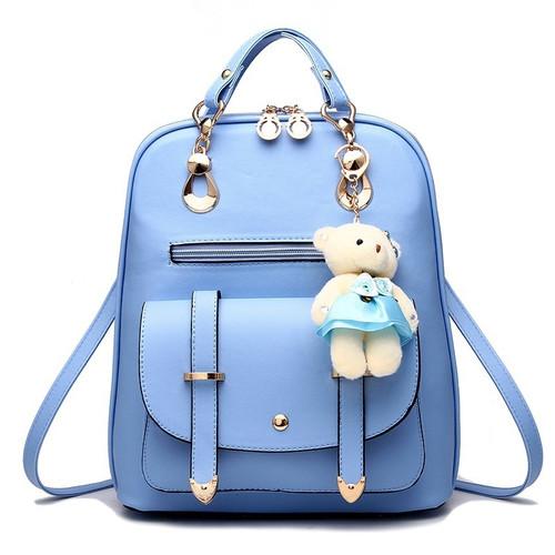 Vintage Casual PU Leather Travel Bags Famous Brand School Backpacks Women Bag Women Backpack Lovely Girls School Bags Ladies Bag