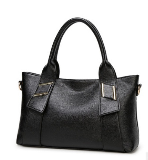 Ladies' Litchi grain PU Leather Handbag Tote Shoulder Bags Messenger bag Crossbody bag Purse