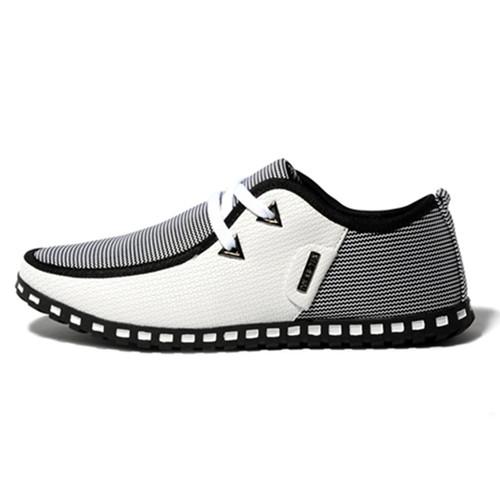 New Fashion Simple Fashion Breathable Casual Shoes, Lace Men's Shoes, Non-slip Soles Sport Shoes