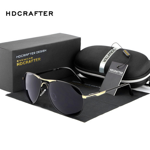 HDCRAFTER Brand Designer Polarized Sunglasses Man Cool Sun Glasses Men UV400 Protection Goggle Eyewear Accessories For Men