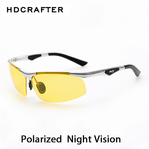 Night Driving New HDCRAFTER Anti-Glare Goggles Eyeglasses Polarized Driving Sunglasses Yellow Lens Night Vision Driving Glasses