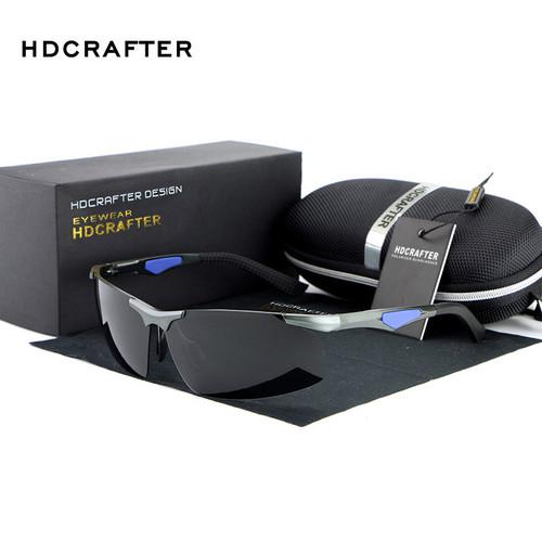HDCRAFTER Polarized Rimless Sunglasses men luxury brand Sun Glasses DrivingGlasses oculos de sol masculino shades E300