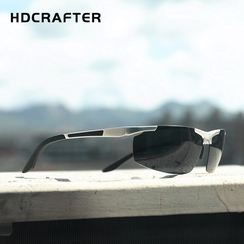 HDCRAFTER 2017 Fashion Sunglasses Aluminum Magnesium Frame mens Polarized Sunglasses Men Driving sun glasses