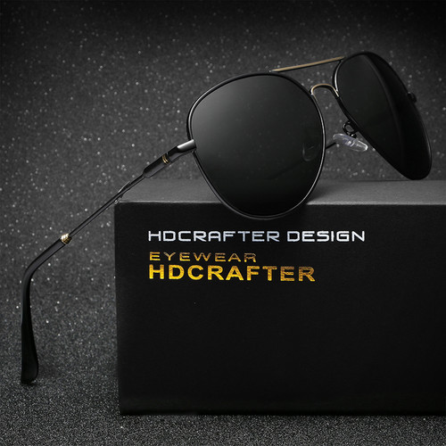 HDCRAFTER Classic Driving  Sunglasses Men Brand Designer High Quality Eyewear UV400 Sunglasses Oculos De Sol Feminino Gafas
