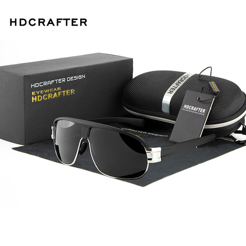 2018 New Fashion Polarized Sunglasses HDCRAFTER Brand Aviador Sunglasses Driving Sun Glasses for Men oculos de sol masculino