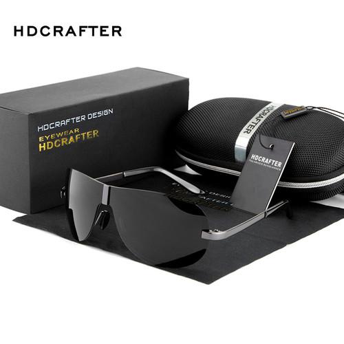 HDCRAFTER 2017 Brand Rimless Fashion Cool Sunglasses Polarized  100% UV400  protection  Oculos de sol masculino Outdoor Eyewear