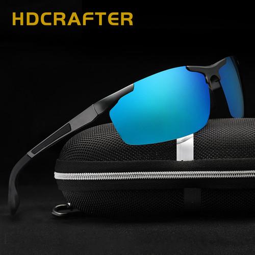 HDCRAFTER New Fashion Men's Polarized Sunglasses Brand Design Aluminum Magnesium Sun Glasses For Driving Fishing