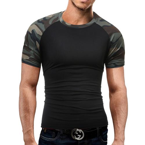Brand Men'S T Shirt 2018 Summer Splicing Fashion O-Neck Short-Sleeved Tees Male Casual T-Shirt Slim Male DD01