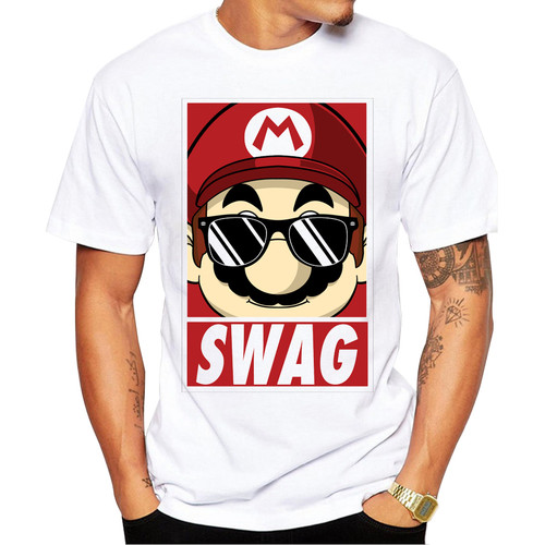 2018 Newest Summer Mario Swag Men T Shirt Short Sleeve Casual Tops Cool Tee Fashion Printed t-shirts