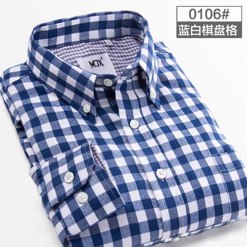 New Autumn Brand Men's Plaid Shirt Male Warm Long Sleeve Shirt Plus Size Youth Office Business Casual Shirt Men