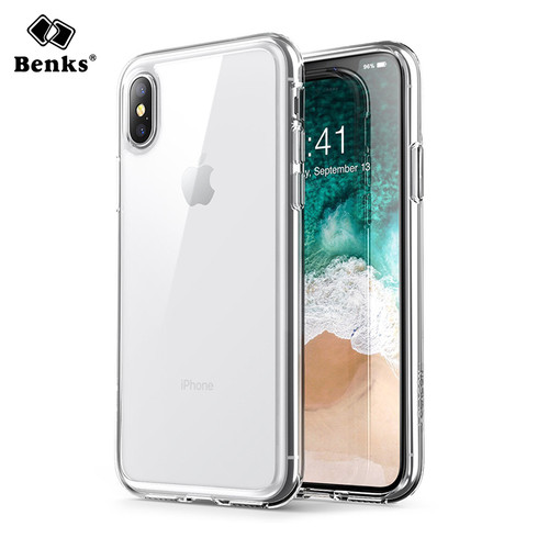 Benks For iPhoneX Case Luxury Hard PC Clear Bumper Case For iPhone X Cover Transparent Protective Phone Case For iPhone X Conque