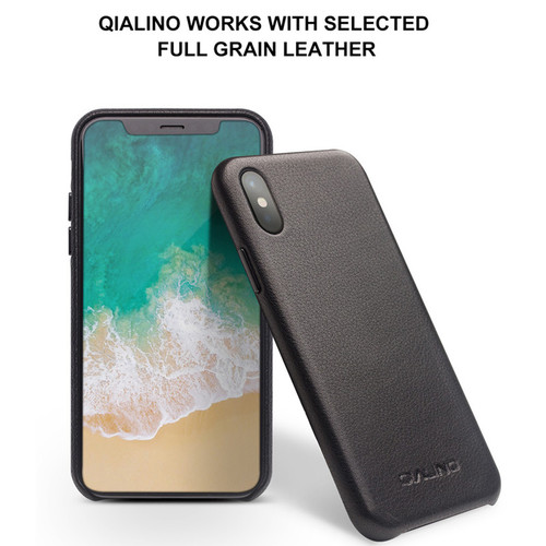 QIALINO Genuine Leather Phone Case for iPhone X  Handmade Luxury Fashion Ultra Thin Back Cover for iPhoneX for 5.8 inch