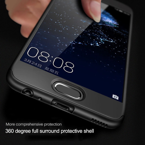 Full Cover 360 Protection Case for Hauwei P10 Lite Cases Honor 9 9 Lite V10 For Huawei P9 Lite P10 P9 Plus Case With Glass Capa