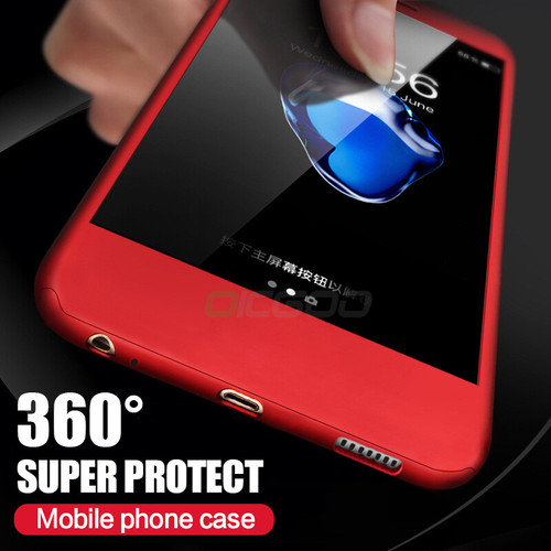OICGOO 360 Degree Full Case For Huawei P10 Lite P9 Lite With Glass Phone Cover For Honor 9 Lite Mate 9 V10 P10 Plus Case Shell