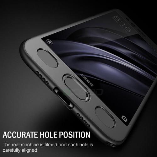 OICGOO Luxury 360 Degree Full Cover Protection Case For Xiaomi Mi6 Mi5 5S Plus Luxury Ultra-thin Hard Cases For Xiaomi Mi6 Case