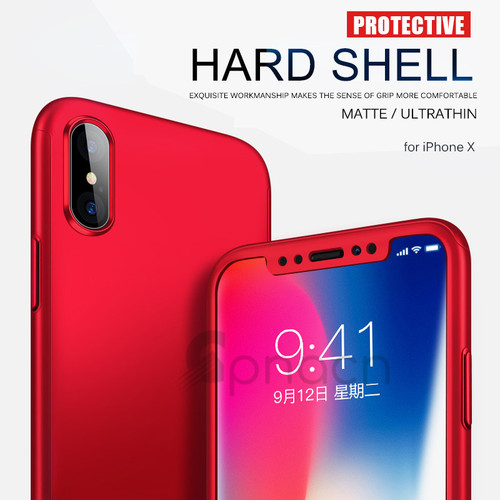 GPNACN 360 Degree Full Cover Cases For iPhone X 6 6s 7 8 Case wish Tempered Glass Cover For iphone 6 6S8 7 Plus Phone Case Capa
