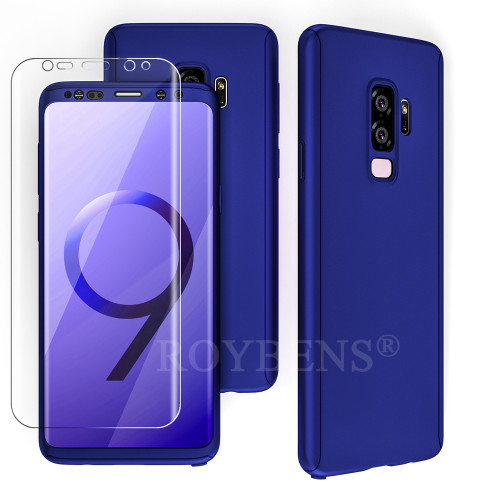 360 Full Protection Case For Samsung Galaxy S9 S9Plus Ultra Thin Slim Matte Hard Cover For Samsung S9 Plus Soft Screen Protector
