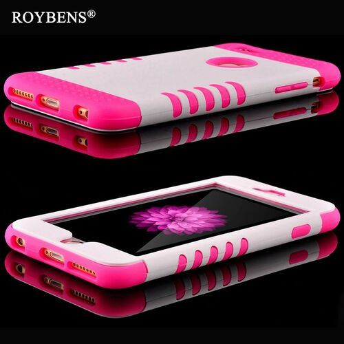 Roybens For iPhone 6S 5S Case Luxury 3 in 1 Soft Silicone Cover For iPhone 6 Plus 5 5S SE Rugged PC TPU Hybrid Armor 360 Cases