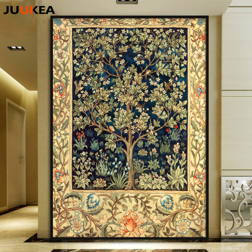 Golden Tree Modern Home Decoration Large Size Canvas Art Print Painting 78x109cm, Wall Picture For Living Room, Home Decor