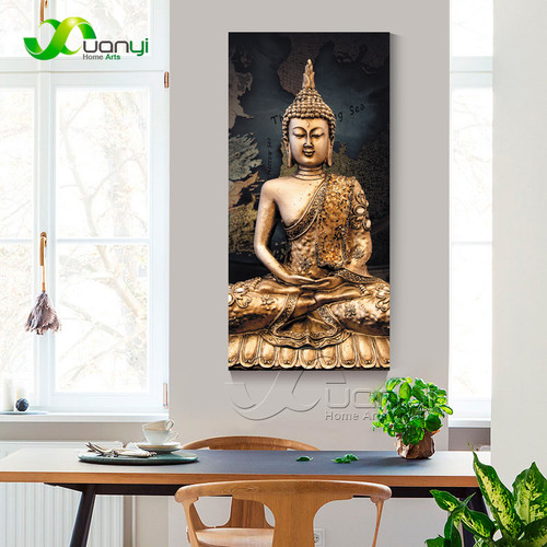 1 Panel Abstract Buddha Canvas Oil Painting Wall Picture For Living Room Cuadros Decoration Modern Printing Unframed PR1297