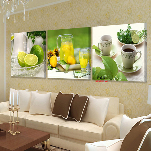 3 Panel Canvas Painting Wall Pictures For Living Room Modular Paintings Cuadros Decoracion Oil Paintings Fruit Picture K304X