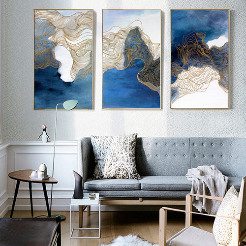 3 Pcs Wall Art Canvas Painting Printed Landscape Pictures Posters Home Decoration For Living Room Abstract Art Chinese Painting