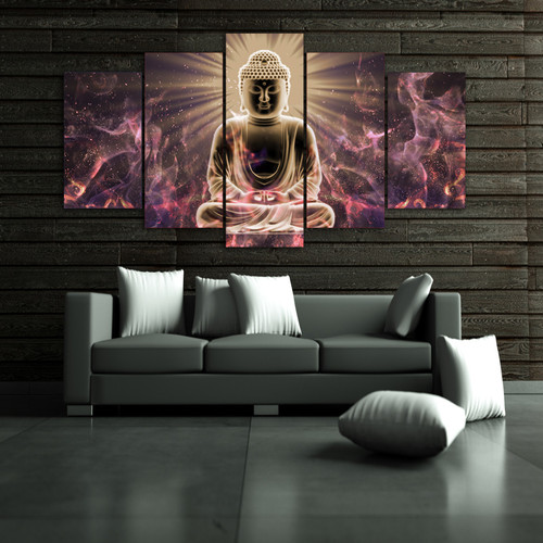 Framed 5pcs HD Print abstract buddha Buddhism meditation canvas Painting home decor wall art picture print painting art /PT1171