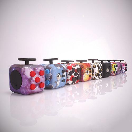 Mini Fidget Cube Toy Vinyl Desk Finger Toys Squeeze Fun Stress Reliever High Quality Antistress Stress Cube Toys #E