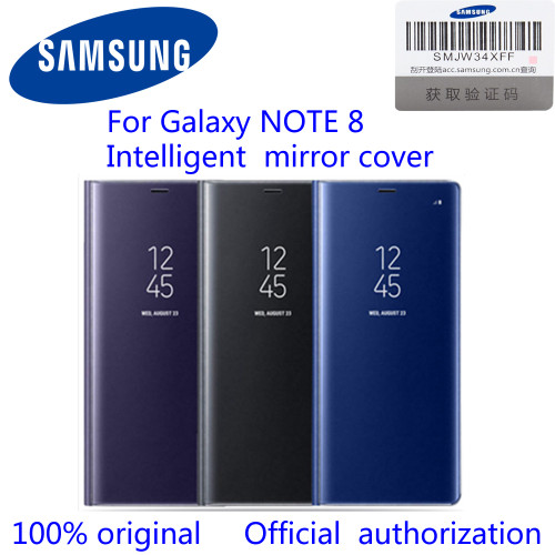SAMSUNG Original Vertical Mirror Protection Shell Phone Cover Phone Case for Samsung Galaxy Note8 N9500 N950F Note 8 Flip Case