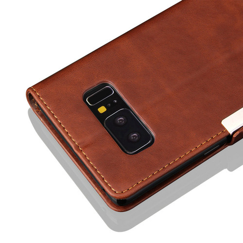 TOP Quality Vintage Retro Classic Leather Flip Cover Phone Case For For Samsung Galaxy Note 8 N950F Bags With Magnetic  FG01
