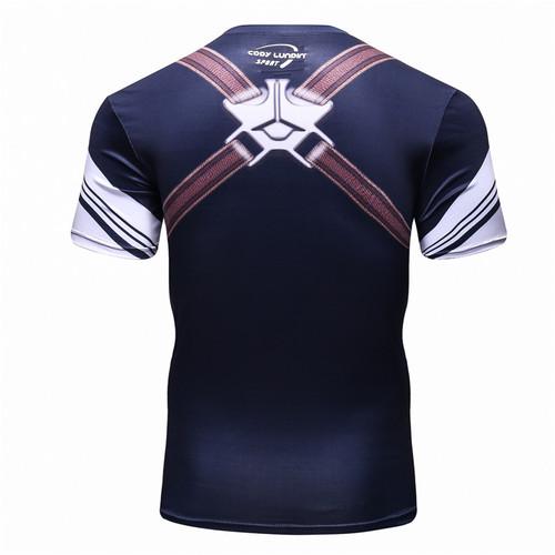 New 2016 Cody Lundin Men Civil War Tee Compression T Shirts Marvel Avengers Costume Comics Superhero Tee Tops for Male