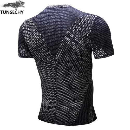2017 TUNSECHY digital printing 3D short sleeve T-shirt manufacturer captain America, superman heroes quick dry  tight T-shirts