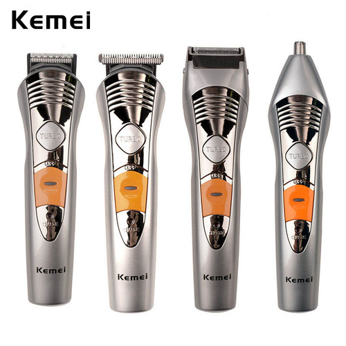 Kemei 7 In 1 Waterproof Electric Hair Clipper Sets Rechargeable Hair Trimmer Men Electric Shaver Beard Trimmer Nose Ear Trimmer