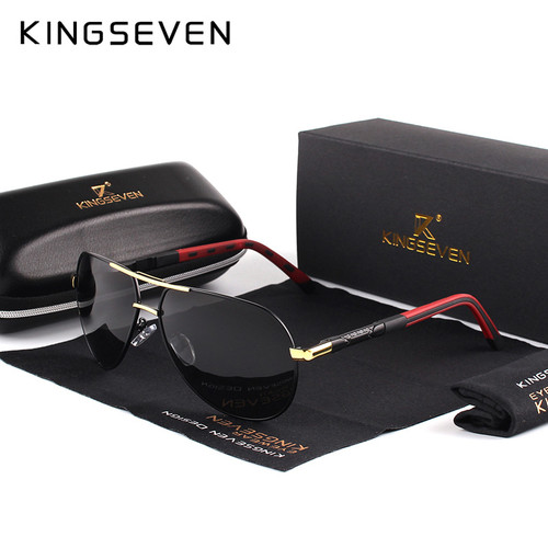 KINGSEVEN Men Vintage Aluminum HD Polarized Sunglasses Classic Brand Sun glasses Coating Lens Driving Shades For Men/Women
