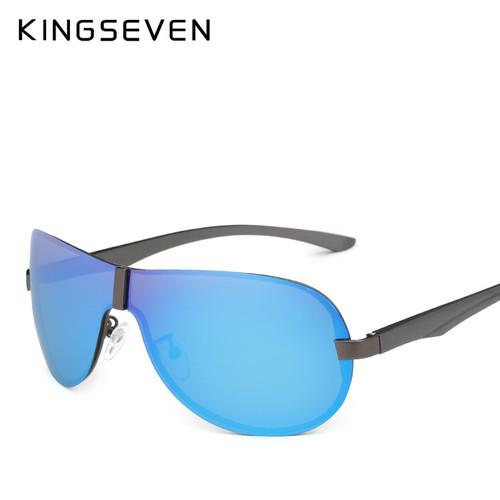 KINGSEVEN Aluminum Polarized Driving Sunglasses for Men glasses Brand Designer with High Quality Big frame rimless sun glasses
