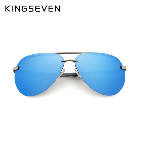 kingseven Aluminum magnesium HD polarized aviation Sunglasses women men driving sun Glasses vintage oculos de sol