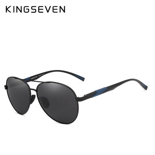 KINGSEVEN DESIGN Men Classic Polarized Sunglasses Aluminum Pilot Sun glasses UV400 Protection NF-7228