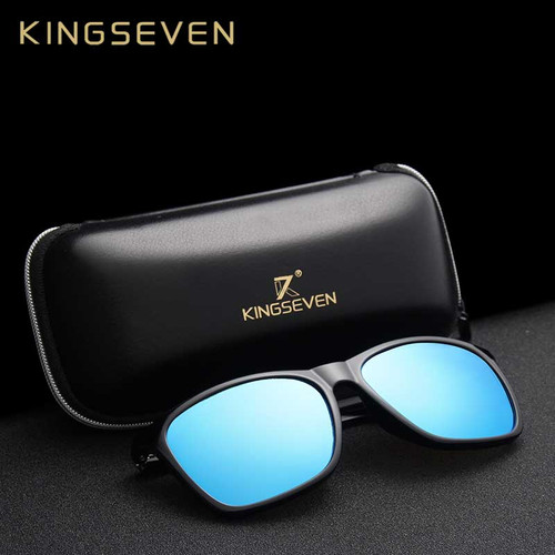 KINGSEVEN Aluminum Magnesium Men's Sunglasses Polarized Men Coating Mirror Glasses oculos Male Eyewear Accessories For Men 7536