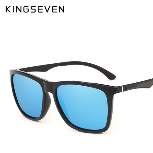 KINGSEVEN DESIGN Men Polarized Square Sunglasses Fashion Male Eyewear Aviation Aluminum Legs 100% UV Protection N7536