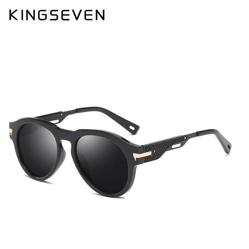 KINGSEVEN Brand Design Fashion Men Wrap Sunglasses Metal Legs Polarized Sunglasses Women Oculos Gafas N7002