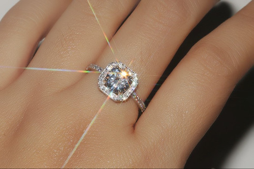 European 925 silver Crystal from Swarovski Simple Exquisite lace Wedding Ring lace index finger rings fashion jewelry
