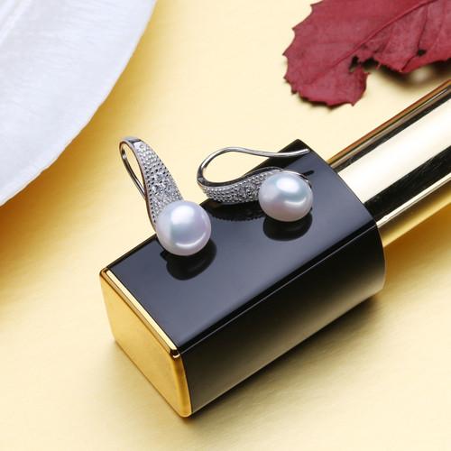 FENASY Pearl Jewelry,pearl earrings stud earrings,925 sterling silver earrings for women with box,vintage ethnic earrings