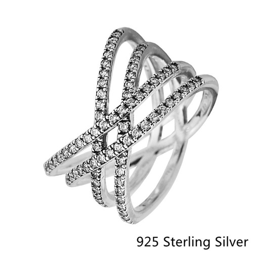 925 Sterling Silver Rings European Style Jewelry Cosmic Lines Ring For Women Original Fashion Charms CKK