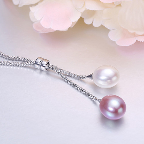 Fashion natural freshwater 925 sterling silver jewelry pearl pendant necklace wedding for wommen,mother pearl pendant best gifts