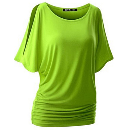 LASPERAL Brand T Shirt for Women Batwing Sleeve Tshirt Tops Solid O-Neck Cotton Summer Top Tees Female Plus Size Casual Shirts
