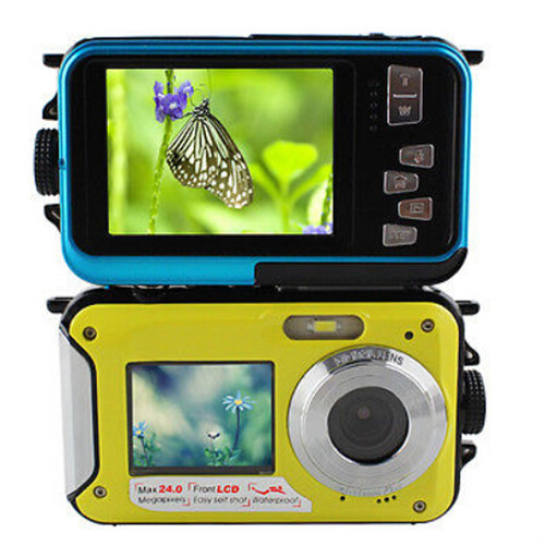 "New 1080P HD  Waterproof Digital Camera 24MP 2.7"" TFT photo camera 16x Zoom Smile Capture Anti-shake Video Camcorder"